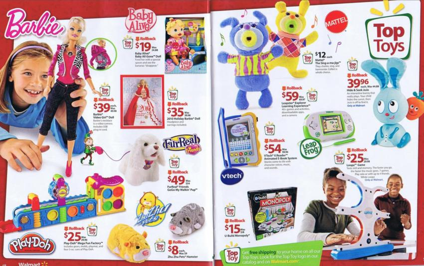walmart christmas toy book print sale