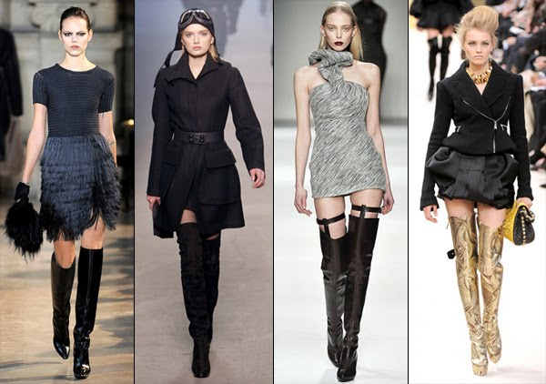 over the knee boots. Yes, over-the-knee boots are