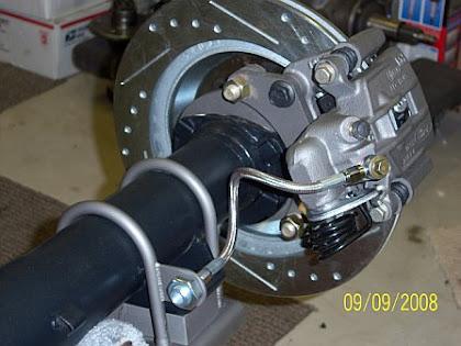 Cobra rear brake set up on a 65