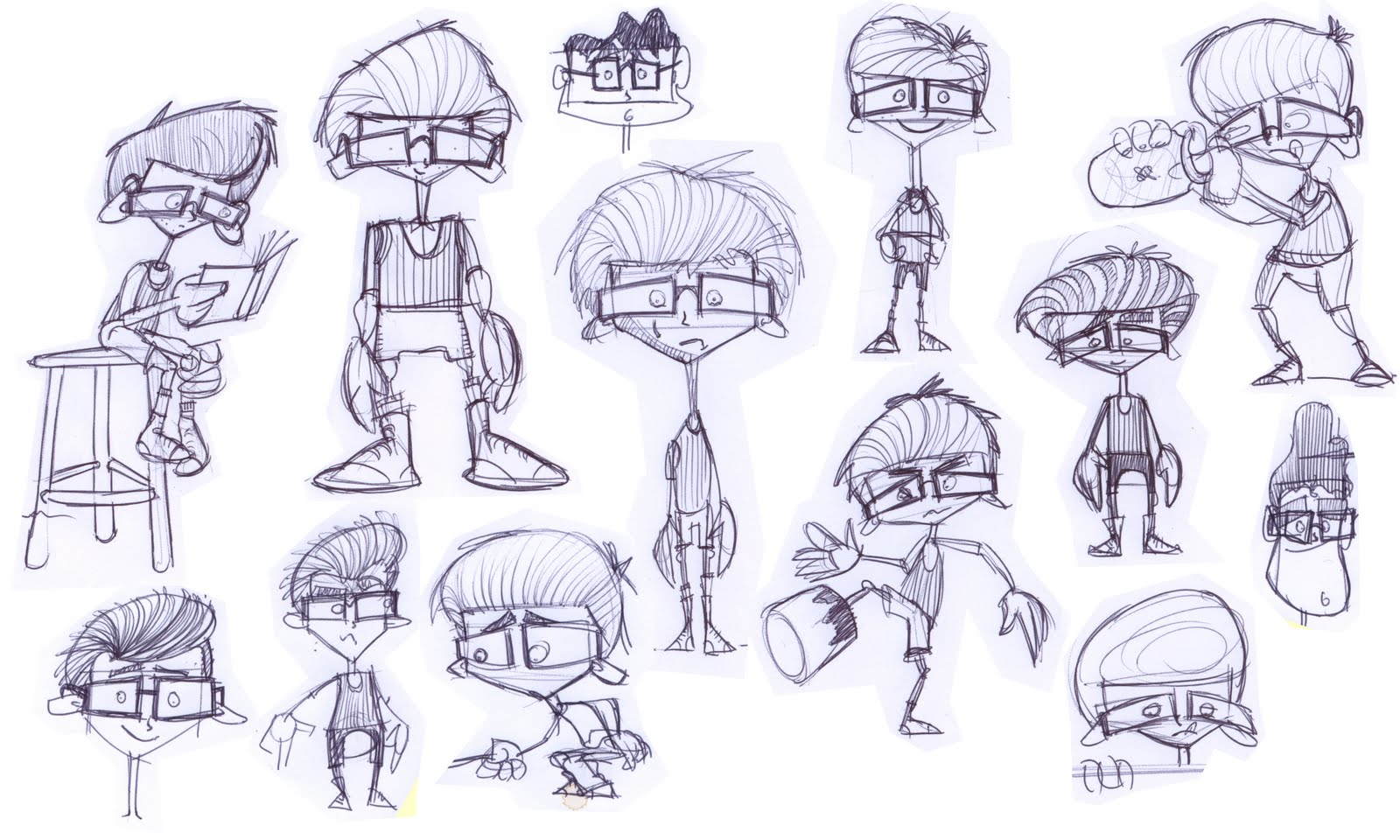 Character Design With Basic Shapes : A beekeeping tale early character designs