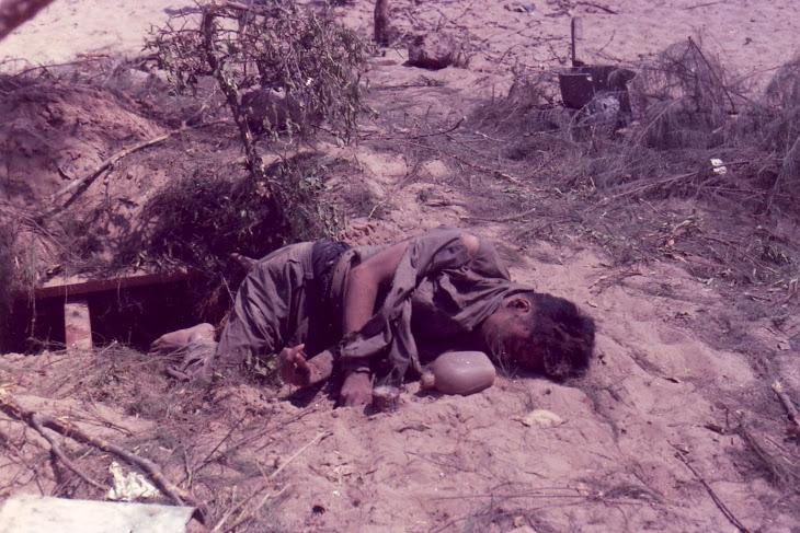 Dead Viet Cong Officer, Phan Thiet 1968