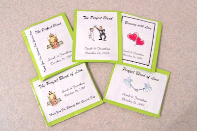 Wedding Favors on Charlotte S Handmade Crafts  Personalized Wedding Tea Bag Favor Labels
