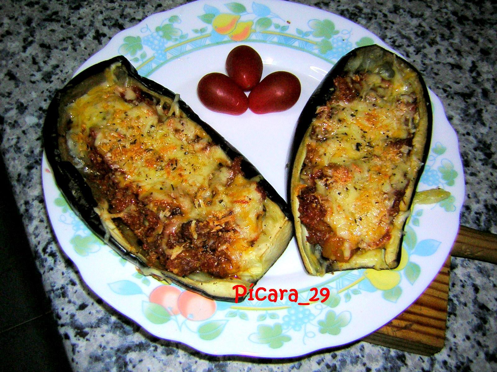 P cara y su cocina berenjenas rellenas for Cocina berenjenas rellenas