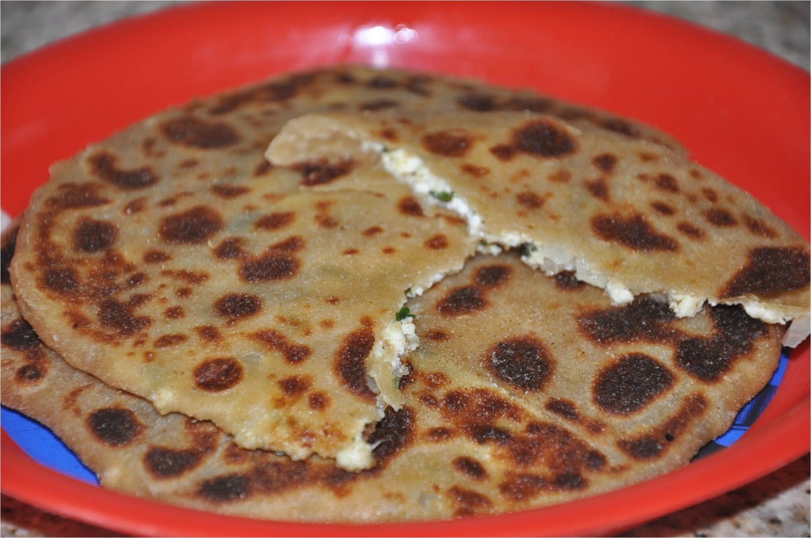 ... Recipes - Rajasthan A State in Western India: Paneer and Pyaaz Paratha