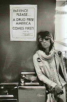 Keith Richards waiting in US Customs