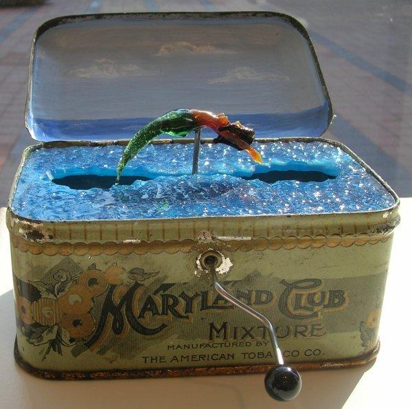 Carmen Lozar , verre soufflé et mécanisme... dans AUTOMATES AUTOMATA Lozar-Mermaid-755786