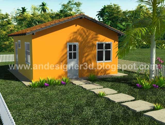 Andesigner3d modelo de casa popular 08 for Casa popular