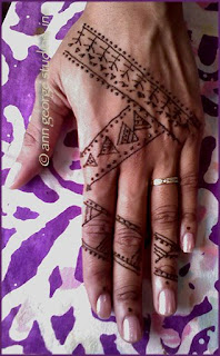tribal henna tattoo - original henna pattern