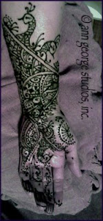 henna tattoo pattern peacock pattern