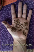modern henna tattoo for back of the hand