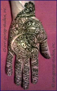 full palm henna tattoo © ann george studios, inc