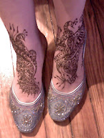 custom henna tattoo for the feet paste one
