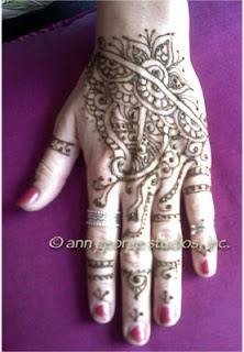 henna tattoo pattern hand design