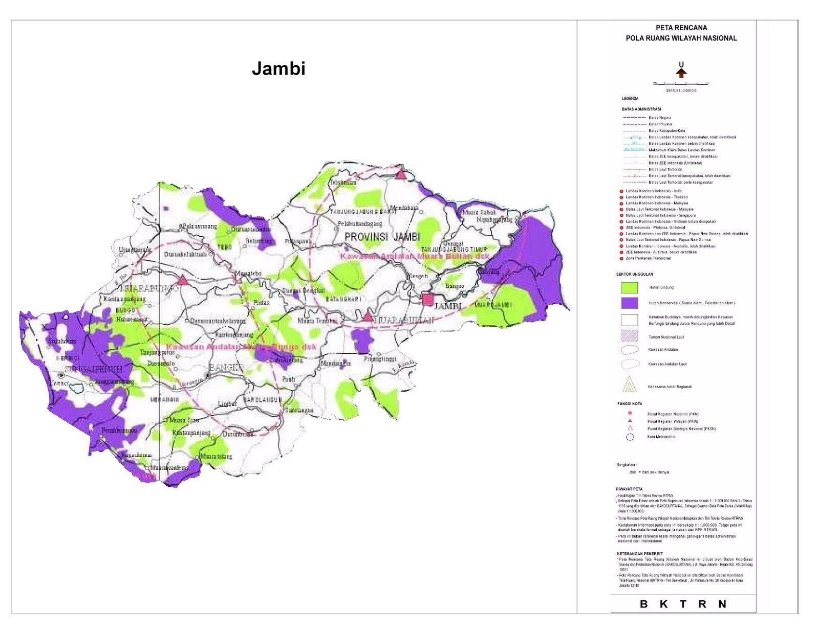 Proyeksi RTWN Terhadap Provinsi Jambi