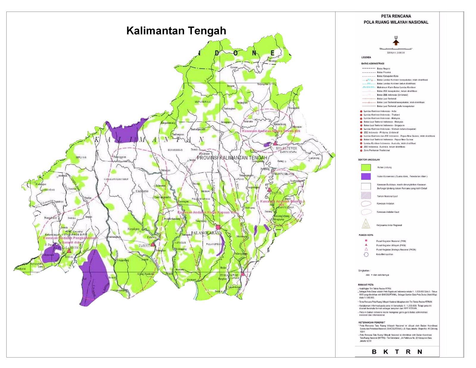 Proyeksi RTWN Terhadap Provinsi Kalimantan Tengah