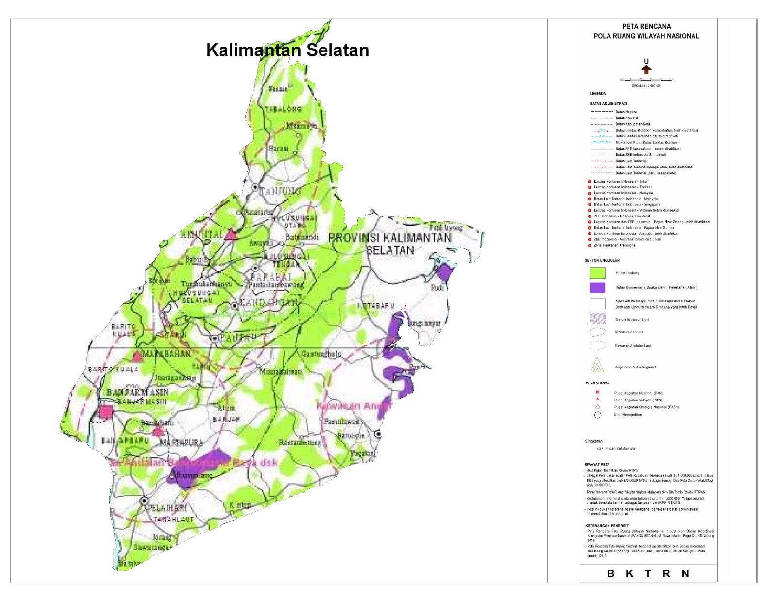 Proyeksi RTWN Terhadap Provinsi Kalimantan Selatan