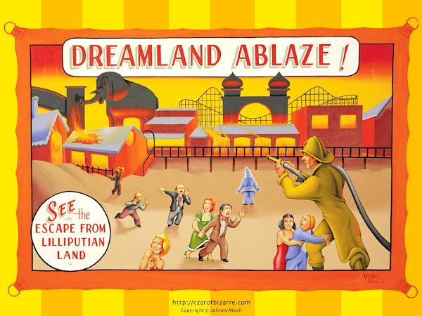 Johnny Meah's Dreamland Ablaze Banner