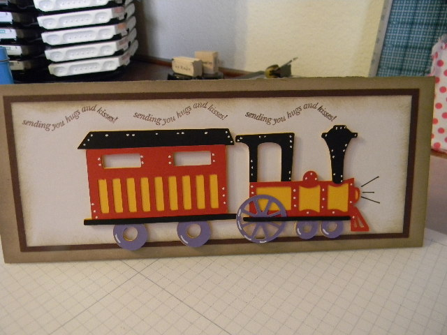 Kards By Kadie Cricut Train Card