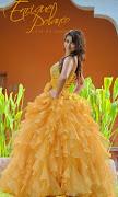 vestidos de XV años 2011 mg xv naranja logo