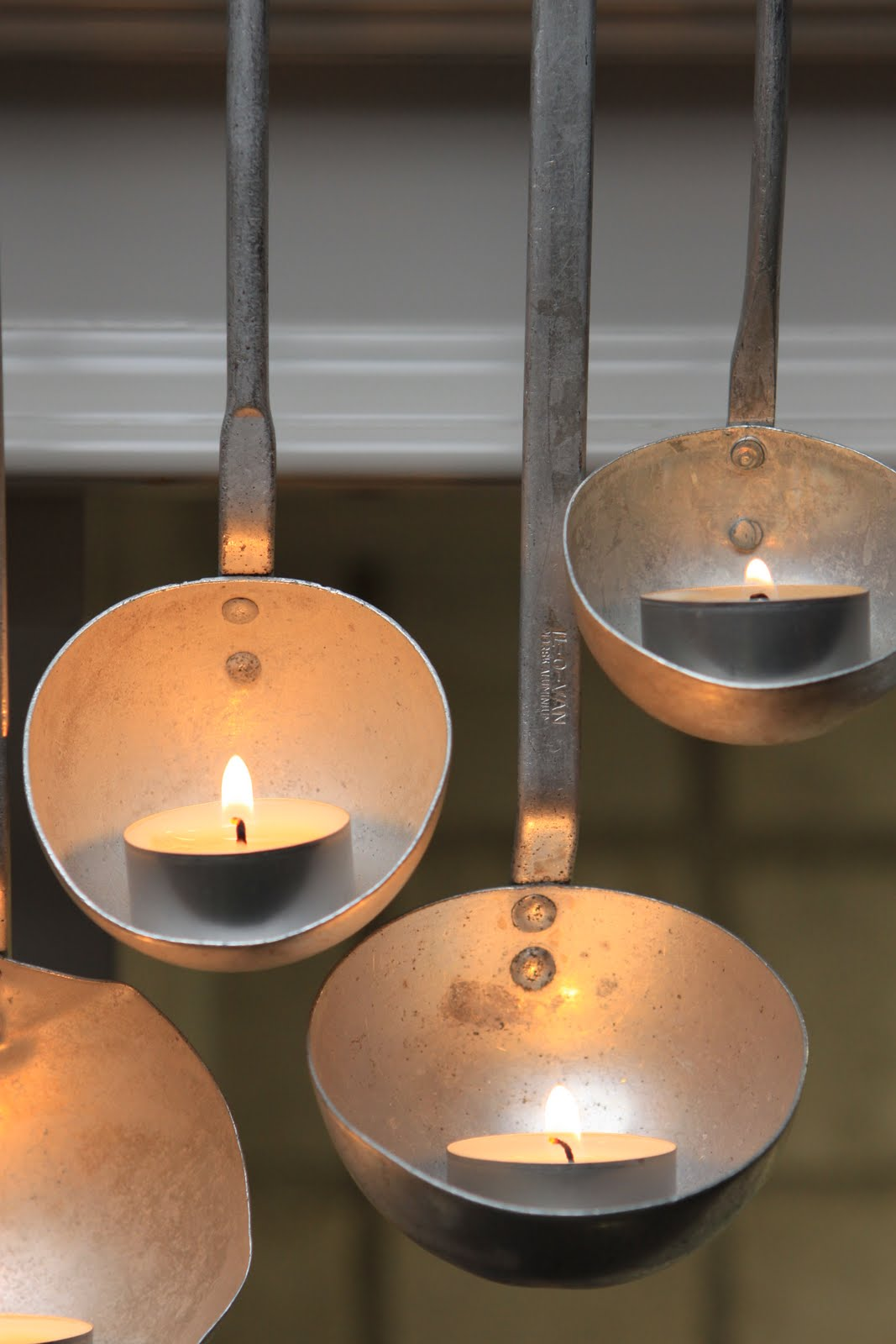 Diy hanging whisk tea light candle holder votive party decor for Diy wooden pillar candle holders