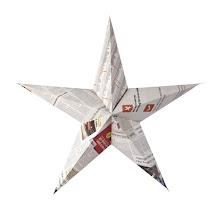 Stjerne i avispapir