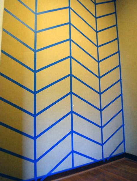 DIY Herringbone Wall Design LIVING IN MODERN FASHION