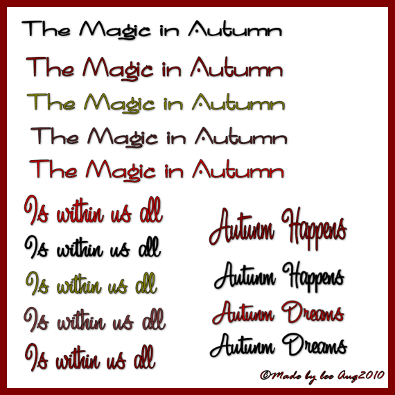 hope you enjoy using my newest WordArt for Autumn, you can download ...