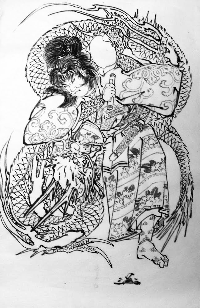 Japanese Dragon Tattoo Drawings