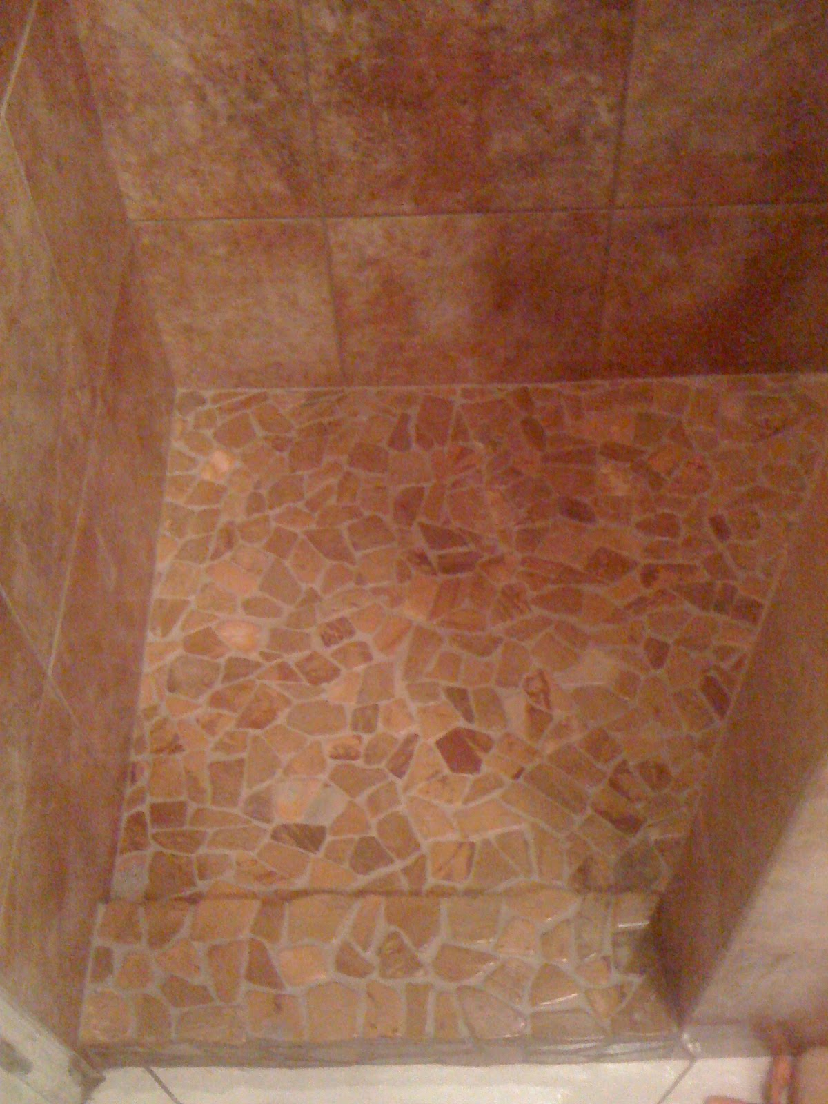 Kahana reef porcelain pebble and glass tile shower higher kahana reef porcelain pebble and glass tile shower doublecrazyfo Gallery