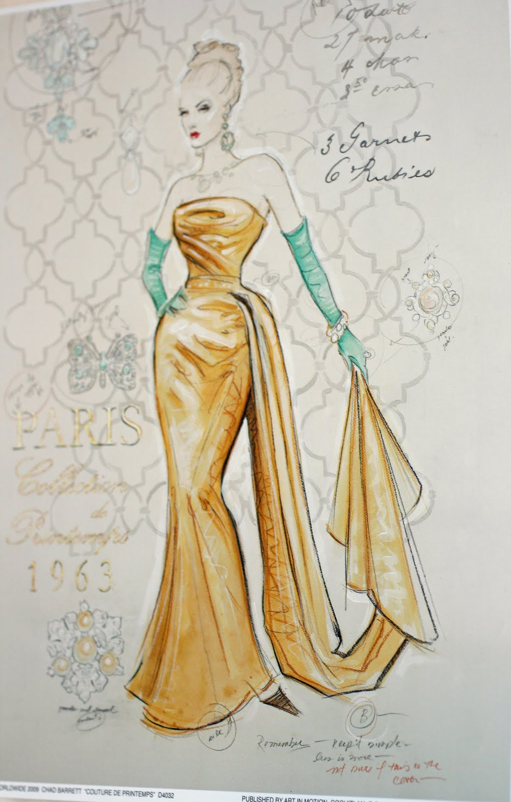 4 The Love Of Art Parisian Couture Fashion Sketches