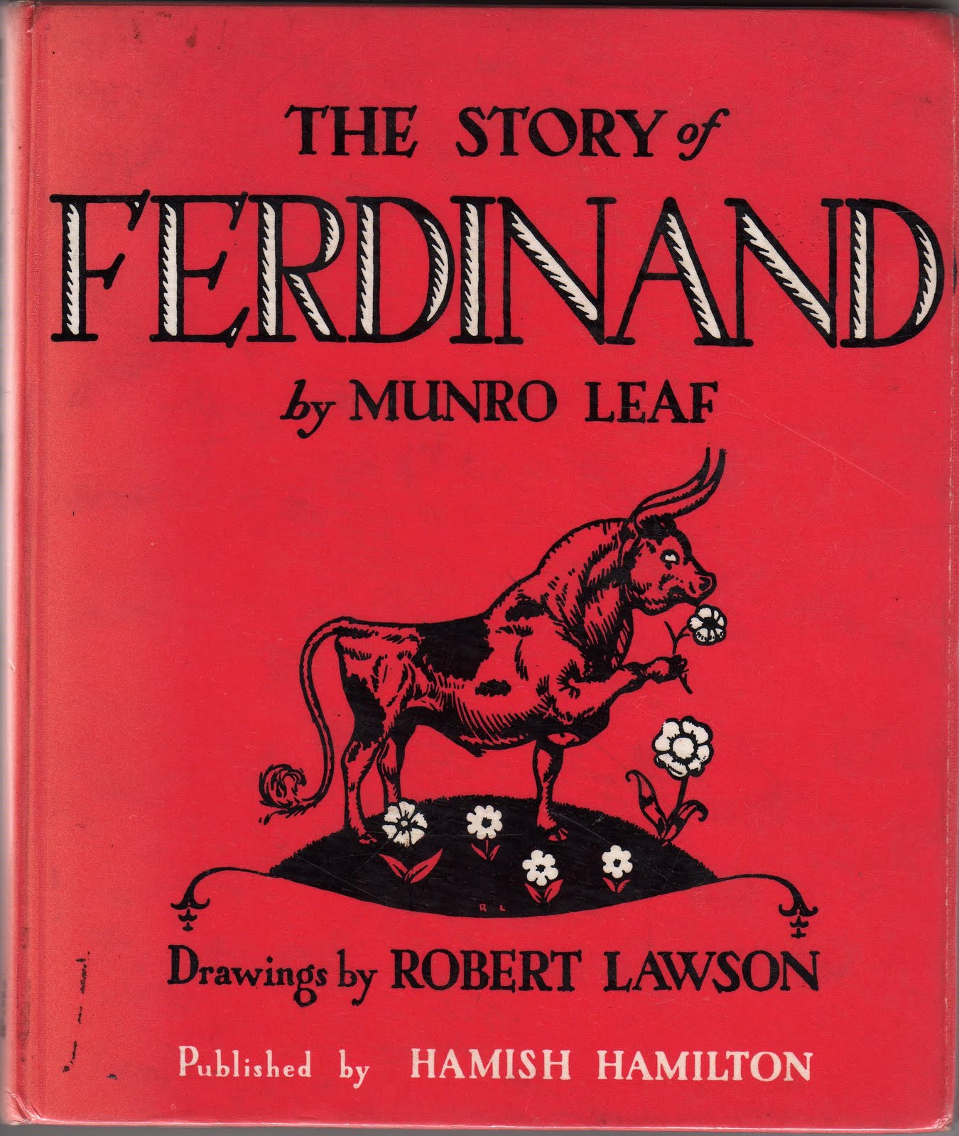 Story of Ferdinand/ Robert Lawson/ hardback/ jacket/ Spain bull fight/ Leaf/1964
