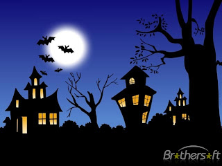 free halloween night screensaver