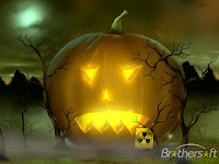 Scary Pumpkin Time Halloween Wallpaper