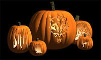 Scary Animated Pumpkin Wallpaper
