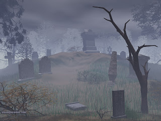 Spooky Graveyard Halloween Wallpaper