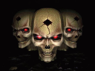 Download Skull Factory Halloween Wallpaper