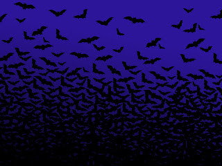 Screechy Bats Halloween Wallpaper