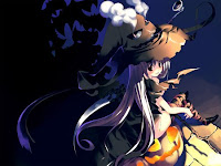 Animated Halloween Witch Wallpaper