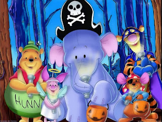 halloween winnie pooh background