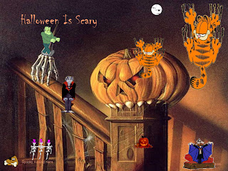 Garfield Halloween Cartoon Wallpaper