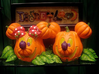 mickey minnie halloween pumpkin face