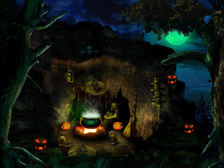 witch brew evil night wallpaper