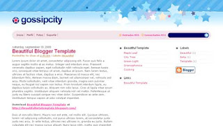 Gossip City XML Blogger Template