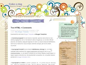 Color-o-Ring Blogger Template