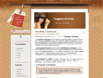Toggery of mine Blogger Template