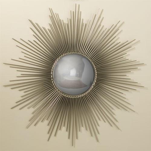 Global Views Sunburst Mirror Nickel: The Modern Sophisticate: Starburst Mirrors
