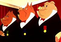 animal farm President Obama contracts swine flu