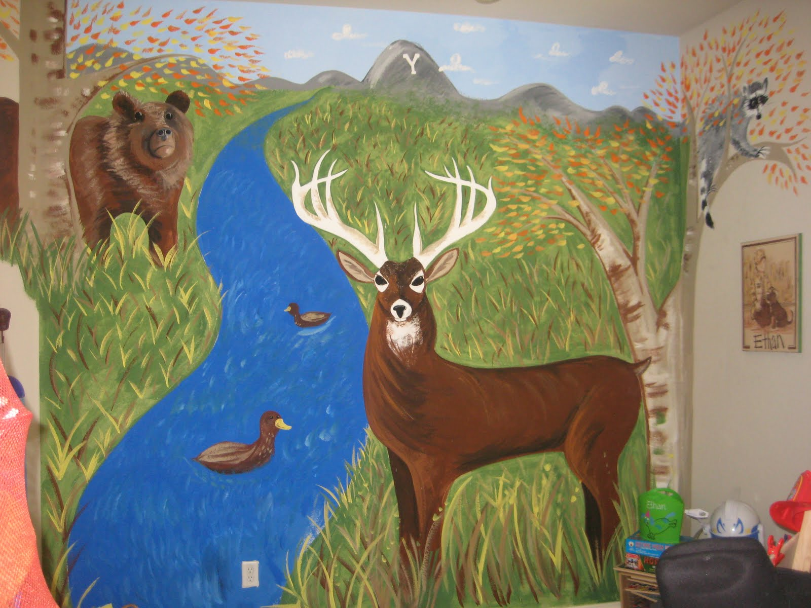 My wonderful life ethan lee my hunting mural thank you for Thank you mural