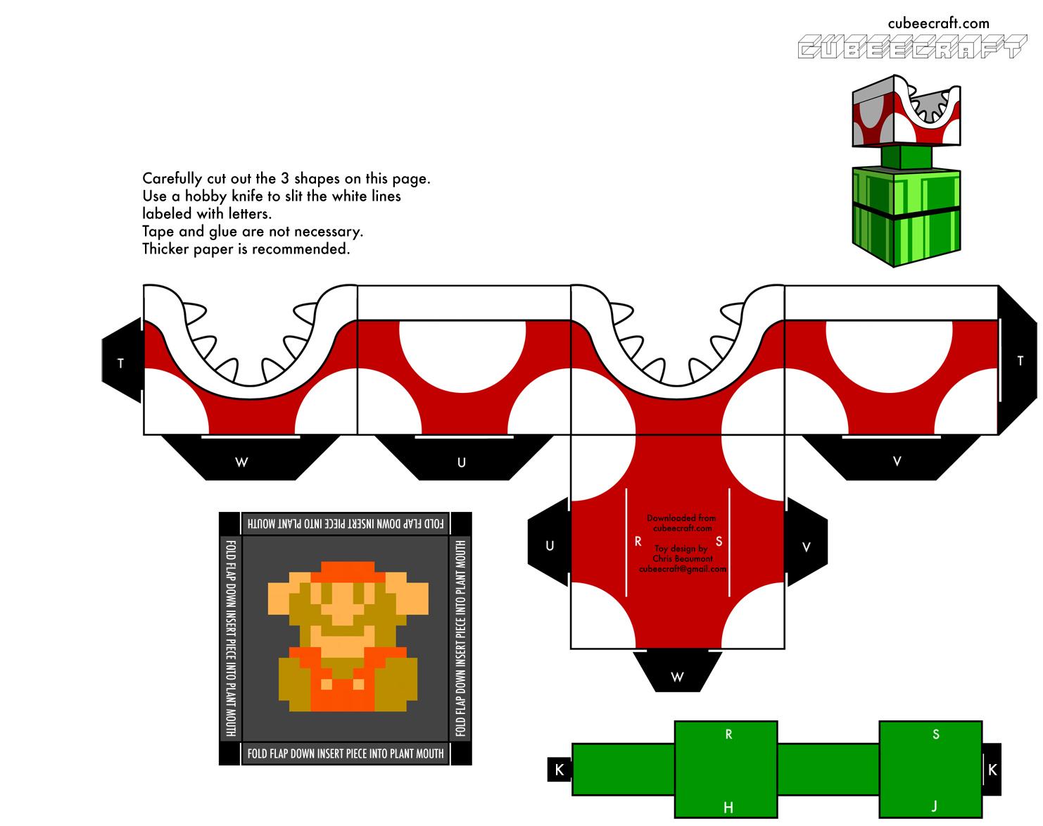 Cubeecraft de video juegos taringa - Plante carnivore mario ...