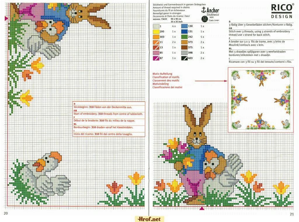باترونات ايتامين للارنب-rabbit x-stitch pattern